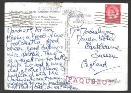 1964 Charlotte Amalie, VI Paquebot Marking On Canary Islands Postcard, British Stamp (Mar 28) - Briefe U. Dokumente
