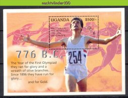 Mtd106 SPORT OLYMPISCHE SPELEN SEBASTIAN COE 1500 METER OLYMPIC GAMES LOS ANGELES UGANDA 1995 PF/MNH - Zomer 1984: Los Angeles