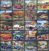 OLDTIMER AUTOMOBILES 3-D STAMPS FROM BHUTAN - NEVER HINGED**! - Automobili