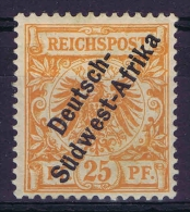 Germany: Südwestafrika I B Nicht Ausgegeben MH/* Falz Signiert M Dunkelorange RR - Kolonie: Deutsch-Südwestafrika
