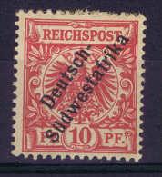 Germany: Südwestafrika Mi Nr 7 B Lilarot MH/* - Kolonie: Deutsch-Südwestafrika