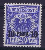 Deutsch Ostafrika : Mi Nr 4 MH/*  Signiert - Colony: German East Africa
