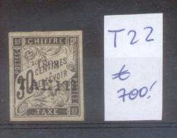 TAHITI COLONIE FRANCAISE YVERT TAXE NR. 22 OBLITERE SOLD AS IS AVEC SURCHARGE AVEC CHARNIERE - Non Classés
