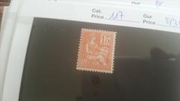 LOT 251486 TIMBRE DE FRANCE NEUF** N�117 VALEUR 35 EUROS