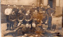 Carte  Photo  Ecrite De Sarreguemines En 1919..groupe De Militaires A Iddentifier - Guerre 1914-18