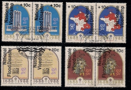 SOUTH AFRICA 1988 CTO Stamp(s) Flood Disaster 731-738 #3594 - South Africa (1961-...)