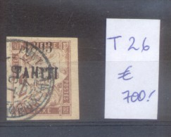 TAHITI COLONIE FRANCAISE YVERT TAXE NR. 26 OBLITERE SOLD AS IS AVEC SURCHARGE AVEC CHARNIERE