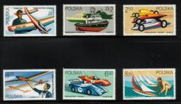 POLAND 1981 MODEL SPORTS SET OF 6 NHM MODELLING TOYS TOY KIT PLANE CAR YACHT SHIP BOAT AIRPLANE GLIDER - Schiffe