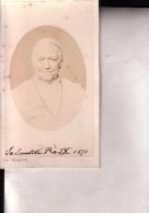 ROME Pape PIE IX En 1876 Par Augusto BINALDINI Roma Photo CDV - Antiche (ante 1900)