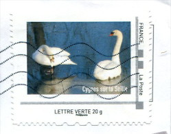 Collector Cygnes Sur La Seille (o) - Lettre Verte 20g - France