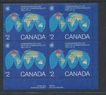 CANADA 1983, # 977,  COMMONWEALTH DAY     MNH  BLOCK  LR - Blocs-feuillets