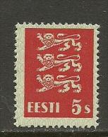 ESTLAND Estonia 1928 Michel 77 MNH Thin Paper Type !! - Estonia
