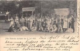 SWEDEN POSTCARD, FRAN GISLAVEDA SKYTTEFEST DEN 12 JUL 1903 - Zweden