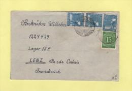 Gnolbzig - 1947 - Destination Depot De Prisonniers De Guerre Allemands A Lens - Allemagne