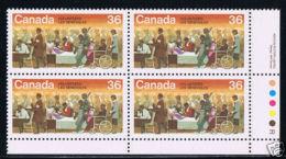 Canada 1987 # 1132,  VOLUNTEERS WEEK Exploration Canada --2  Block Of 4 MNH  LR - Blocs-feuillets