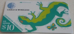 Caribbean Isl. - GPT, Lizard, Code 214BCAA, 1998, Mint - Phonecards