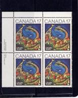 Canada, 1981, # 898,  L´ACADIE By RENEE DE GRACE   UL Block - Blocs-feuillets