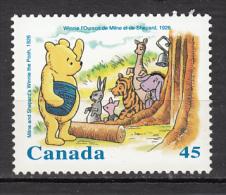 Canada, MNH, 1996, #1620, Disney, Ours, Lapin, âne, Tigre, Miel, Abeile, Cloche, Cochon, Kangourou, Rabbit, Bear, Pig, - Api