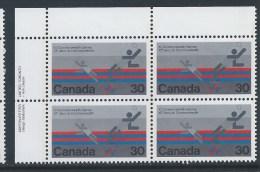 Canada, 1978, # 758,  1978 COMMONWEALTH GAMESS,  UL BLOCK - Blocs-feuillets