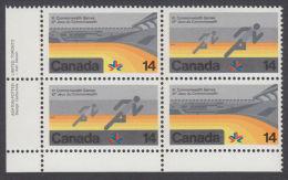 Canada, 1978, # 760a,  1978 COMMONWEALTH GAMESS,  LL  BLOCK - Blocs-feuillets
