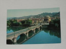 TORINO - Chiesa Della Gran Madre - Ponte Con Tram - Filobus - 1965 - Chiese