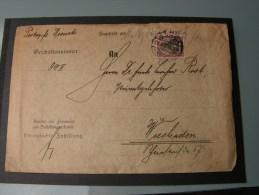 == DR 1913  Borna - Wiesbaden  , Portodienstsache - Briefe U. Dokumente