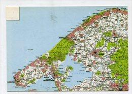 DENMARK - AK 225616 Map - Hundested - Frederiksvaerk - Helsinge .... - Danemark