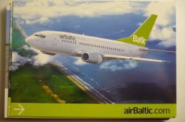 AIRLINES ISSUE / CARTE COMPAGNIE       AIR BALTIC   B 737 - 1946-....: Modern Tijdperk