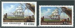 U.S. 1999. Scott #3286, #1168. IRISH IMMIGRATION, JOINT ISSUE WITH IRELAND. Neuf, MNH (**)