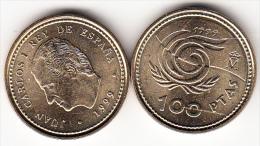 ESPAÑA 1999. JUAN CARLOS 100 PTS. FLOR DE LIS ARRIBA Y ABAJO .NUEVA.CN4249 - [ 5] 1949-… : Royaume