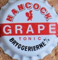 Hancock Grape Tonic Kronkorken Denmark capsule soda bottle crown cap chapa gaseosa TOP