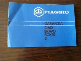 Piaggio Ciao '90 Tessera Garanzia E Tagliandi Originale - Genuine Warranty Card - Carte De Garantie - Garantiekarte - Motor Bikes