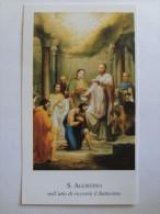 717 - Santino Sant'Agostino Riceve Il Battesimo Holy Picture Image Pieuse - Images Religieuses