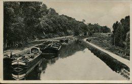 CPSM CHATILLON SUR LOIRE-LE CANAL LATERAL-( Peniches ) - Chatillon Sur Loire