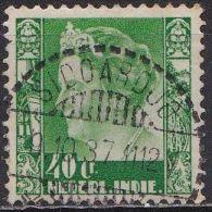 Ned. Indië: SIDOARDJO Op 1934-37 Koningin Wilhelmina 40 Ct Lichtgroen NVPH 203 - Nederlands-Indië