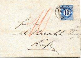 SUISSE. Timbre Taxe N°5 De 1878 Sur Enveloppe De 1879. - Taxe