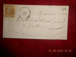 UU_11_rare Lettre De ARTIX GC 183,OR De Ceseau Sur N°21.a Voir!!ind 10 Plus OR - Postmark Collection (Covers)