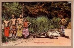 CONGO FRANCAIS - BRAZZAVILLE - MISSION CATHOLIQUE - 4 - RETOUR DE CHASSE - Collection Guichard - Brazzaville