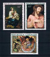 Gabun 1968 Gemälde Mi.Nr. 301/03 Kpl. Satz ** - Gabun (1960-...)