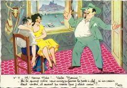 HUMOUR MARSEILLAIS  17 OH BONNE MERE  ...MARIUS COCU  ILLUSTRATEUR FERNAND BOURGEOIS  EDIT. MIREILLE - Humor