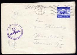 A3078) Feldpost Brief Von FP 19661 15.7.1942 Nach München Mit Apt. Maschinenstempel - Deutschland