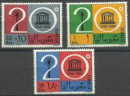 Somalia - 1966 UNESCO Set Of 3 MNH **        SG 448-50  Sc 299-301 - Somalia (1960-...)