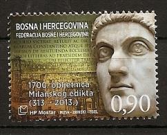 BOSNIA AND HERZEGOVINA 2013,POST MOSTAR,EDIKT OF MILAN,,,MNH - Bosnia And Herzegovina