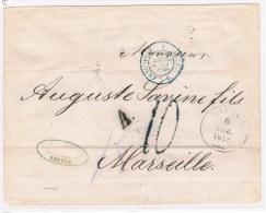 7.  Odessa 6.2.1872.  + Autr - Erquelines 3 =24 Fevr 72. - Storia Postale