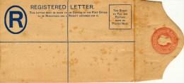 Ceylon, Cover, Sobre, Registered  Letter, Ten  Cents - Territorio Británico Del Océano Índico