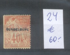 GUADELOUPE YVERT NR. 24 OBLITERE SOLD AS IS - ISLA DE GUADALUPE - Unclassified