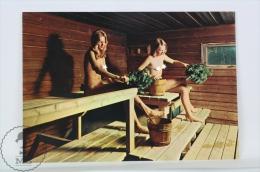 Suomi Finland Postcard - Spirit Of The Spirit Sauna - Ethnic Nudes/ Naked Beautiful Girls In Sauna - Finlandia