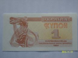 BANCONOTE   UCRAINA  1   KYNOH   FIOR DI STAMPA - Ukraine