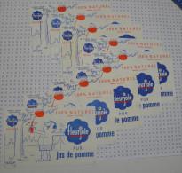 9 buvards jus de pomme Fleurjoie sign� par illustrateur