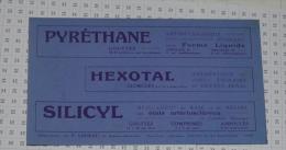 Pharmacie : Pyrethane Hexotal Silicyl - Buvards, Protège-cahiers Illustrés